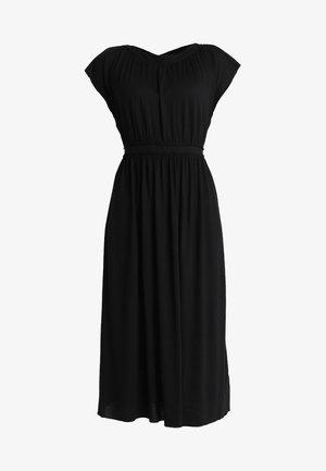 DRESS OVERCUT SHOULDER - Maxikjole - black