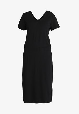 DRESS WITH ELASTIC WAISTBAND - Robe en jersey - black