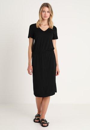 DRESS WITH ELASTIC WAISTBAND - Robe en jersey - black