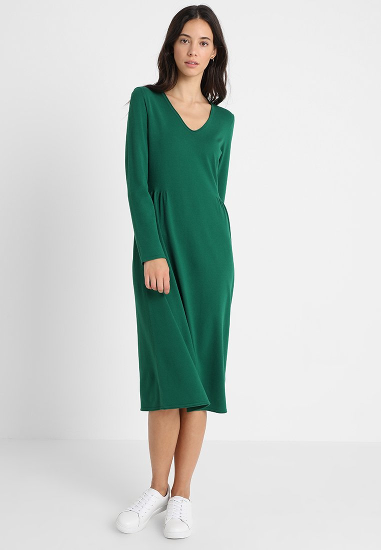 Marc O'Polo - DRESS LONG LONGSLEEVES ROUNDED  - Vestido de punto - night pine