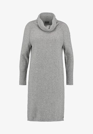HEAVY DRESS LONGSLEEVES  - Gebreide jurk - stormy sky melange