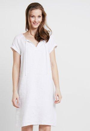 DRESS EASY A SHAPE DETAILED NECK - Day dress - white