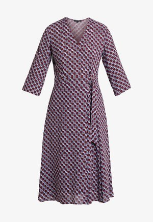 DRESS WRAP STYLESLEEVE - Denní šaty - bordeaux