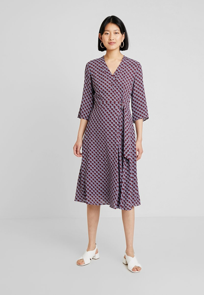 Marc O'Polo - DRESS WRAP STYLESLEEVE - Day dress - bordeaux