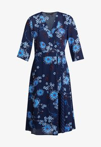 Marc O'Polo - DRESS WRAP STYLESLEEVE - Vardagsklänning - mottled blue - 4