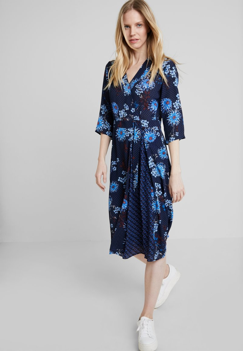 Marc O'Polo - DRESS WRAP STYLESLEEVE - Vardagsklänning - mottled blue