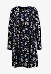 Marc O'Polo - DRESS FEMININE FLARED SHAPE LONG - Hverdagskjoler - dark blue