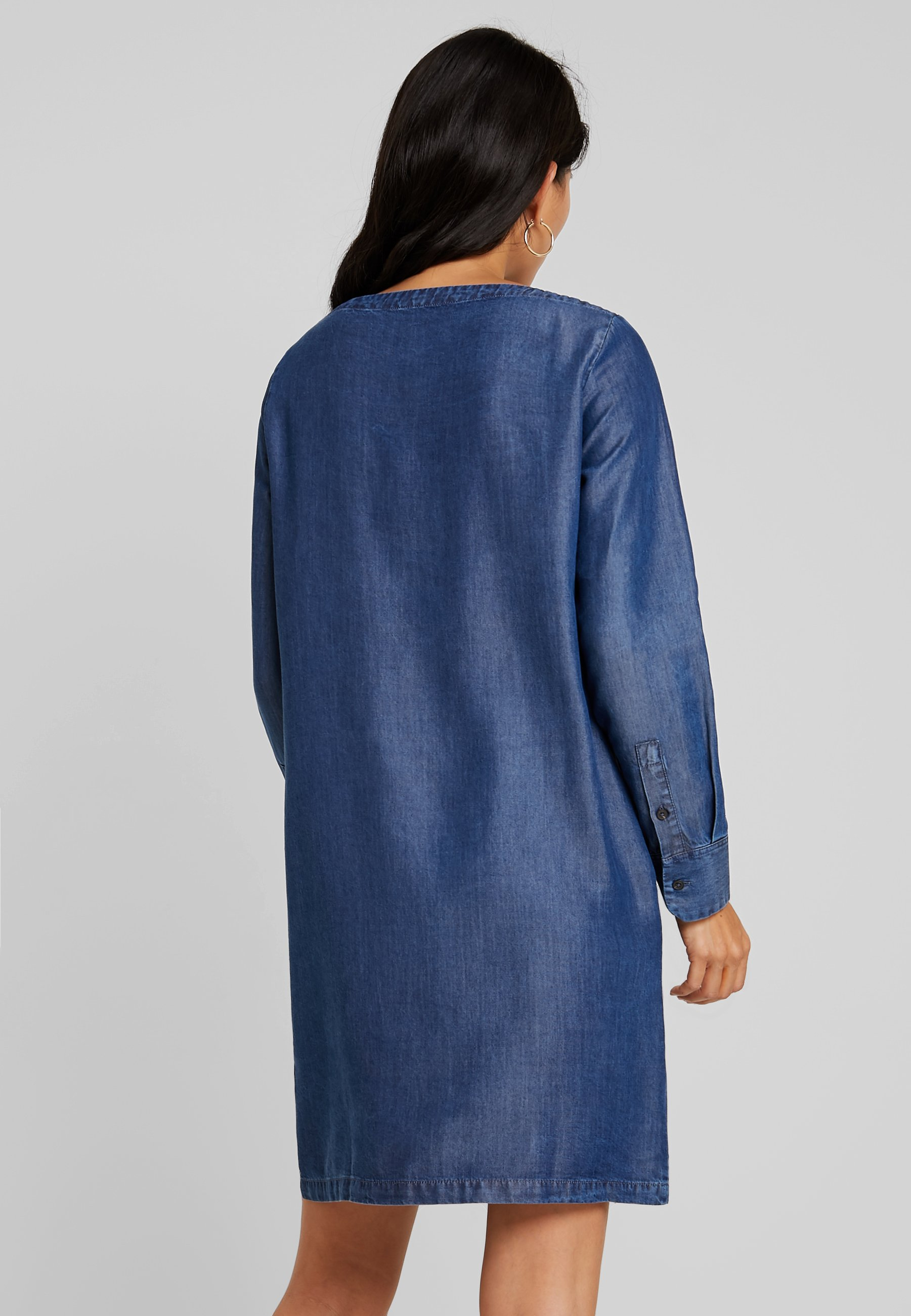 Style Jean O'polo Dress Blue Marc Tunique PocketRobe En Breast Indigo nwPkO0X8