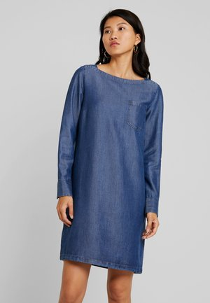 DRESS TUNIQUE STYLE BREAST POCKET - Spijkerjurk - blue indigo
