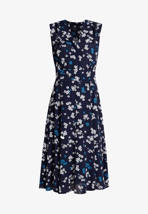 DRESS FEMININE SHAPE FLARED - Vestito estivo - dark blue