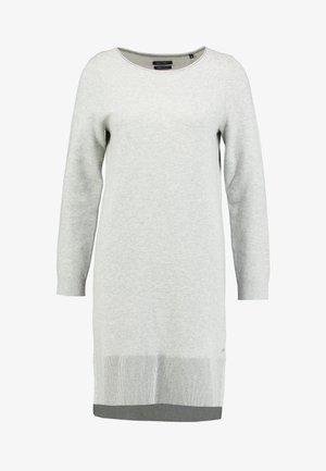 DRESS DOUBLEFAC - Strikket kjole - light stone melange