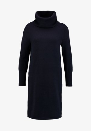 HEAVY DRESS LONGSLEEVE - Strikket kjole - midnight blue