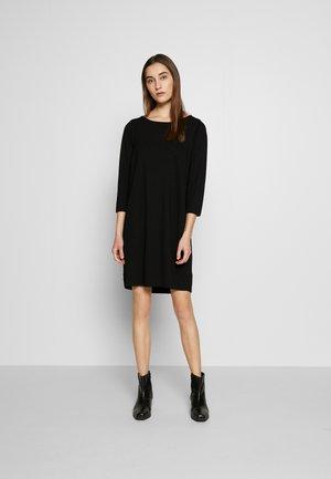STRAIGHT - Jersey dress - black