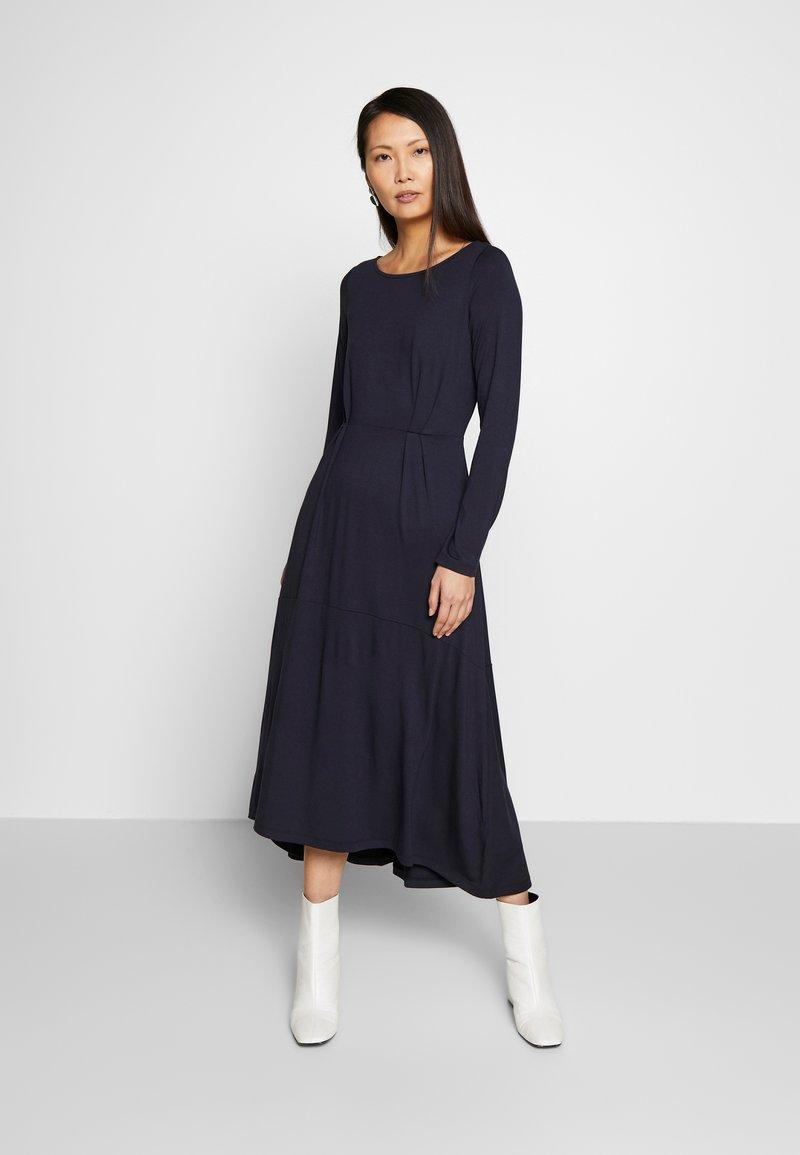 Marc O'Polo - DRESS BOAT NECK LONGSLEEVE - Maxi dress - night sky