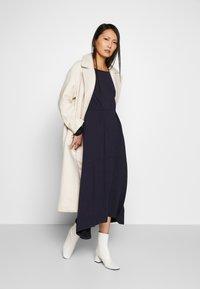 Marc O'Polo - DRESS BOAT NECK LONGSLEEVE - Maxi dress - night sky - 1