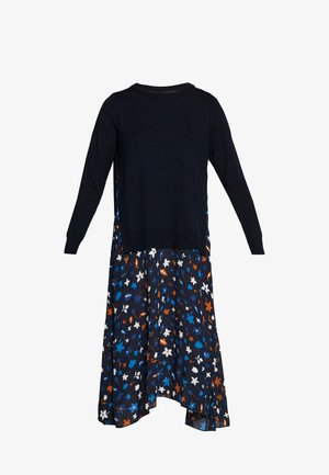 DRESS LONGSLEEVE  PATCHED WITH PRINTED - Vapaa-ajan mekko - multi/night sky