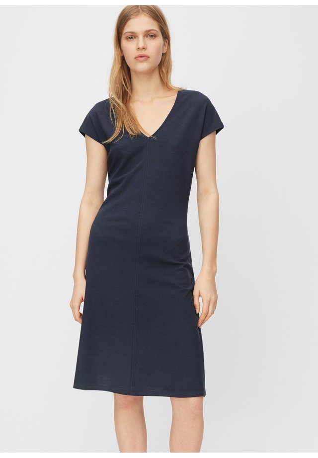 JERSEY-DRESS, V-NECK, SLITS - Jerseyjurk - night sky