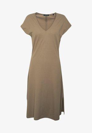 JERSEY-DRESS, V-NECK, SLITS - Vestido ligero - shaded walnut