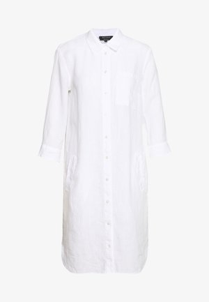 DRESS TUNIQUE COLLAR WELT POCKETS SIDE SLITS - Blousejurk - white