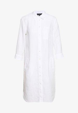 DRESS TUNIQUE COLLAR WELT POCKETS SIDE SLITS - Abito a camicia - white