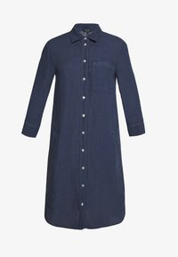 Marc O'Polo - DRESS TUNIQUE COLLAR WELT POCKETS SIDE SLITS - Shirt dress - dark blue - 4