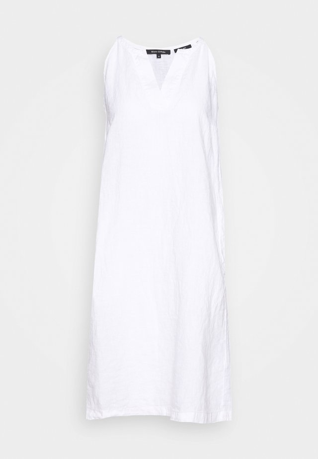 DRESS EASY STRAP STYLE DETAILED NECKLINE SUMMER LINE - Korte jurk - white