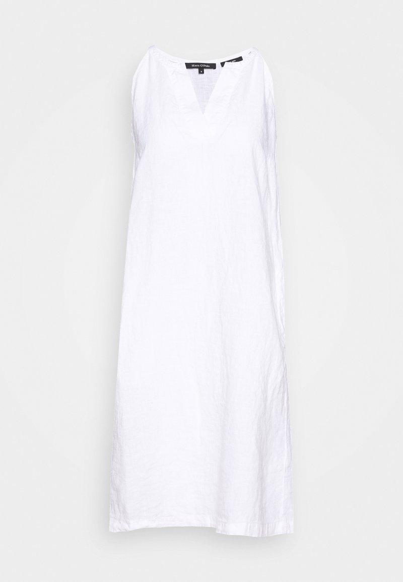 Marc O'Polo - DRESS EASY STRAP STYLE DETAILED NECKLINE SUMMER LINE - Korte jurk - white