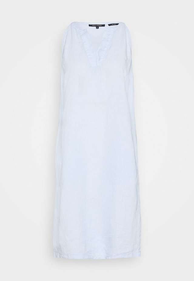 DRESS EASY STRAP STYLE DETAILED NECKLINE SUMMER LINE - Vestido informal - light blue