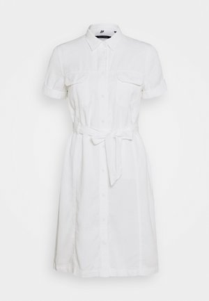 DRESS SHAPED FIT PATCHED - Abito a camicia - white