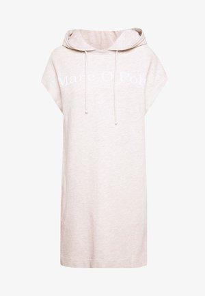 DRESS SLEEVELESS HOODED - Denní šaty - oat melange