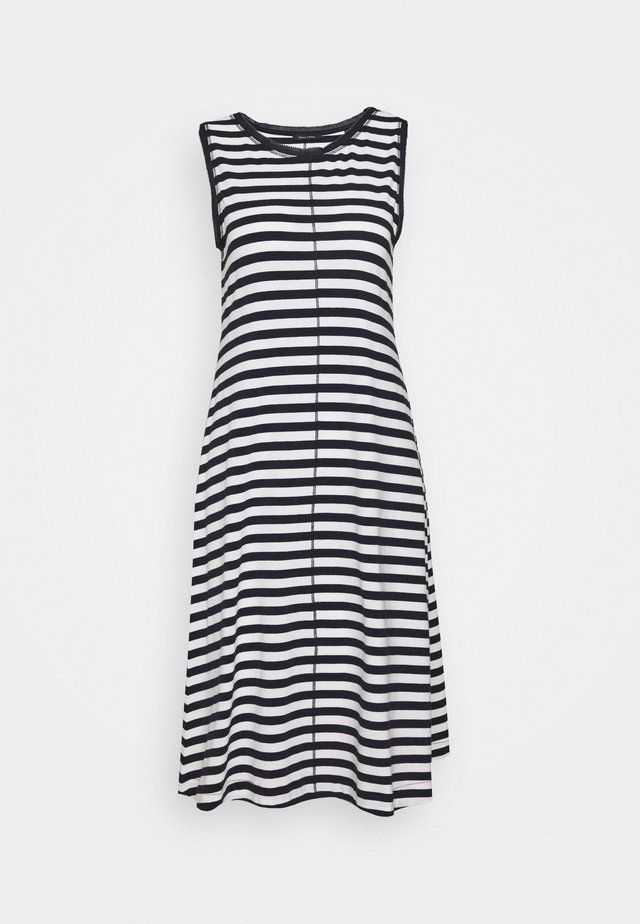 DRESS SLEEVELESS MID LENG - Vestido camisero - navy