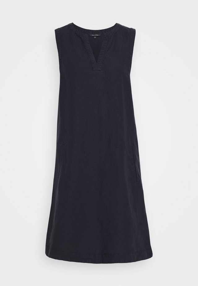 DRESS LOOSE STRAIGHT SHAPE PIPING - Korte jurk - night sky