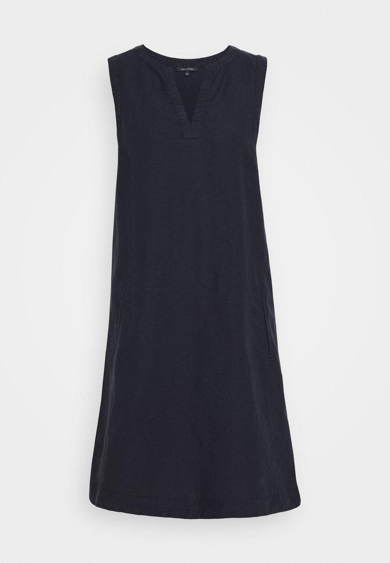 Marc O'Polo - DRESS LOOSE STRAIGHT SHAPE PIPING - Day dress - night sky
