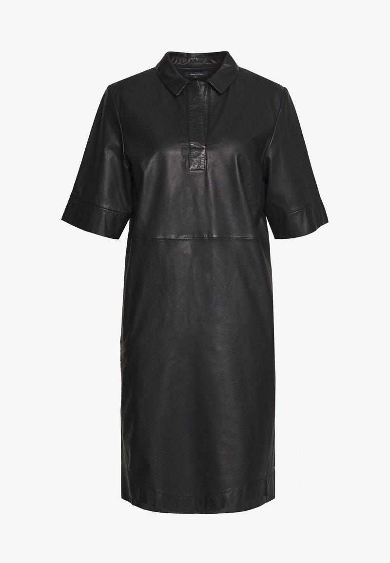 Marc O'Polo - DRESS CROPPED SLEEVE LENGT - Shirt dress - black