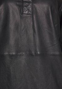 Marc O'Polo - DRESS CROPPED SLEEVE LENGT - Shirt dress - black - 2
