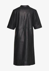 Marc O'Polo - DRESS CROPPED SLEEVE LENGT - Shirt dress - black - 1