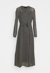 Marc O'Polo - DRESS LONG STYLE BELTED WAIST DETAILED NECKLINE - Vestido informal - black - 4