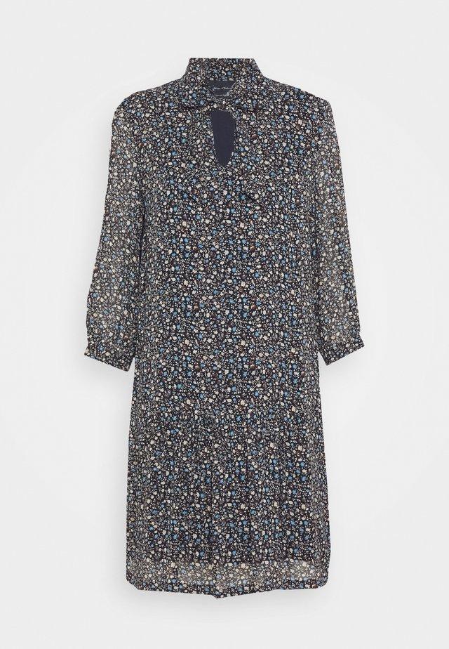 DRESS SHORT FLUENT STYLE RUFFLED NECKLINE PRINTED - Sukienka letnia - multi