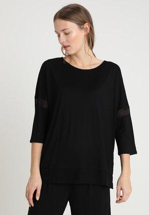 SHEER INSERTS SLEEVE - Långärmad tröja - black