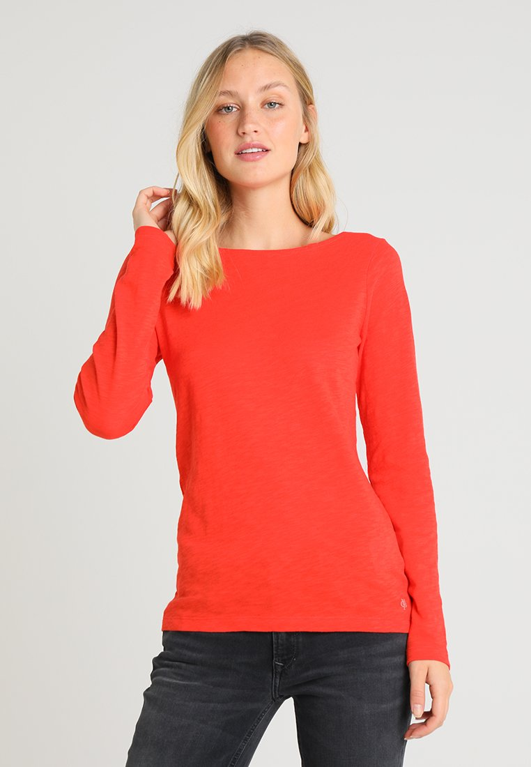 Marc O'Polo - BOAT NECK LONG SLEEVE  - Long sleeved top - strong scarlet