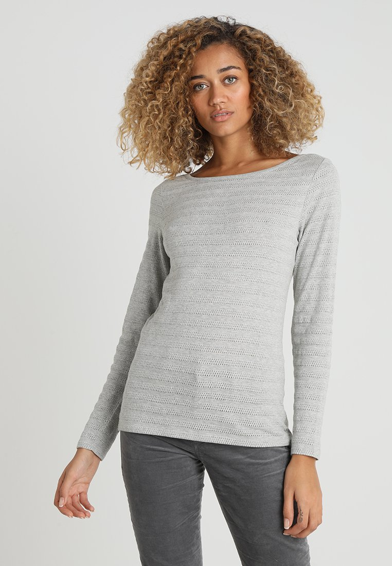 Marc O'Polo - LONG SLEEVE STRUCTURED - Top s dlouhým rukávem - mercury melange
