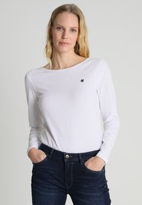 Marc O'Polo - LONG SLEEVE BOAT-NECK - Camiseta de manga larga - white - 0