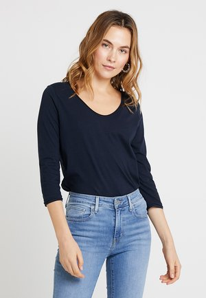 3/4 SLEEVE ROUNDED V-NECK - Long sleeved top - deep atlantic