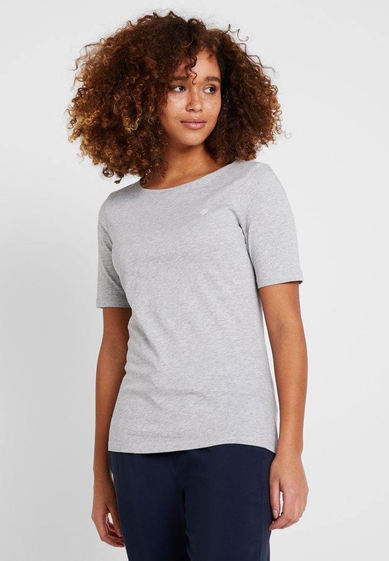 Marc O'Polo - SHORT SLEEVE ROUND NECK - T-Shirt basic - mercury melange