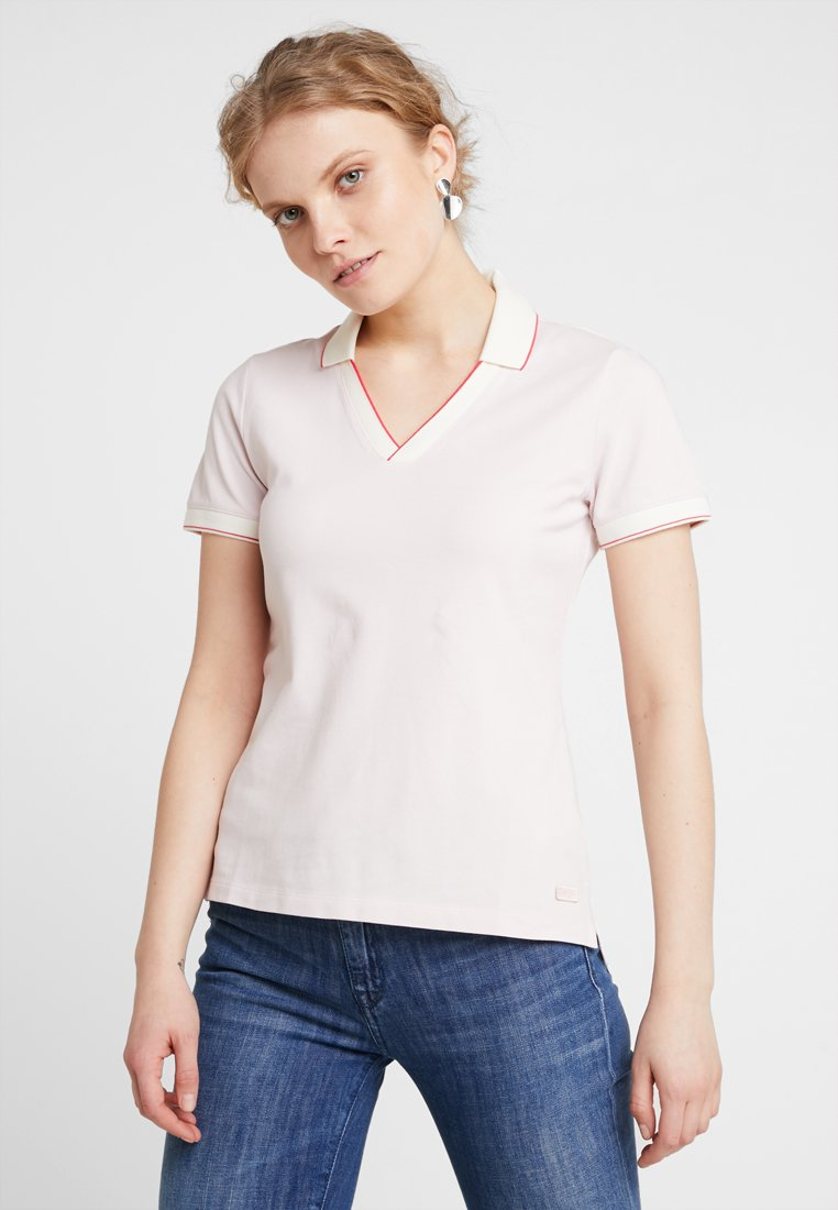 Marc O'Polo - SHORT-SLEEVE V-NECK  - Print T-shirt - chilly rose