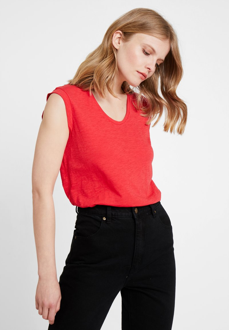 Marc O'Polo - ROUND NECK - T-shirts basic - red