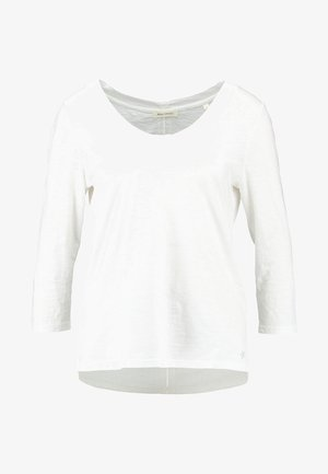 3/4 SLEEVE ROUNDED NECK - Long sleeved top - white