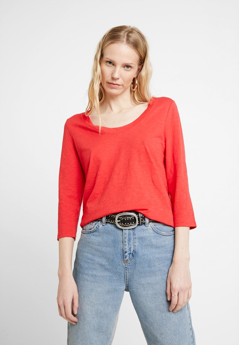 Marc O'Polo - 3/4 SLEEVE ROUNDED NECK - Long sleeved top - fresh rose hip