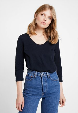 3/4 SLEEVE ROUNDED NECK - Long sleeved top - midnight blue
