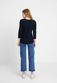 Marc O'Polo - 3/4 SLEEVE ROUNDED NECK - Long sleeved top - midnight blue - 2
